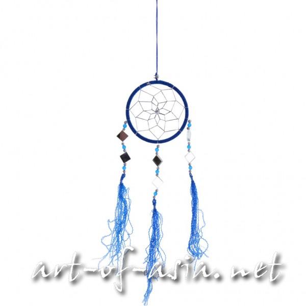 Bild 2 - Traumfänger, rund, verschiedene Größen, Dazzling Blue